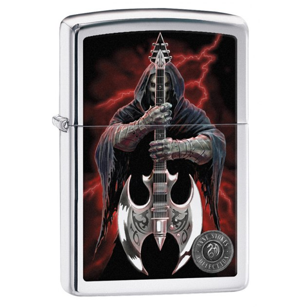 Зажигалка ZIPPO Anne Stokes с покрытием High Polish Chrome, латунь/сталь, серебристая, 36x12x56 мм