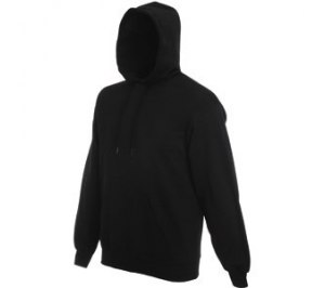 "Толстовка ""Hooded Sweat"", черный, 80% х/б, 20% п/э, 280 г/м2"
