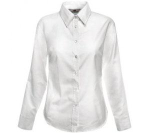 "Рубашка ""Lady-Fit Long Sleeve Oxford Shirt"", белый"